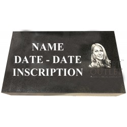 IMPACT ETCHING PHOTO MARKER, CEMETERY GRAVE MARKER
