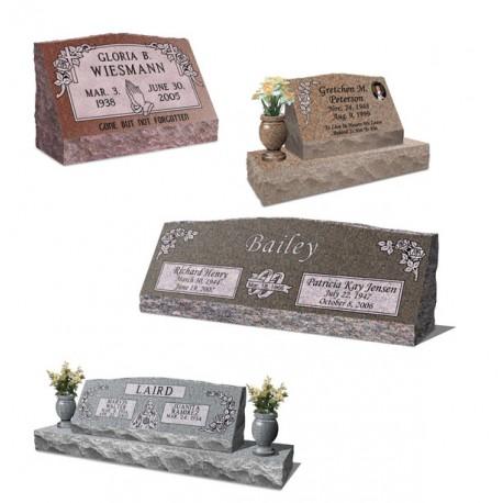 Slanted Granite Grave Marker, Hickey Monument