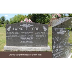 Standard Shape Monument, Headstone, Upright Headstone