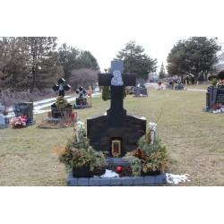 Simple Cross Monument Headstone