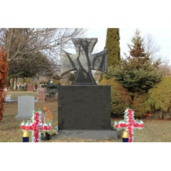 Catholic Cross Monument Headstone