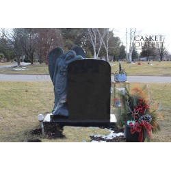 YOUR GUARDIAN ANGEL STATUE MONUMENT HEADSTONE