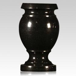 Cemetery Black Granite Stone Vase