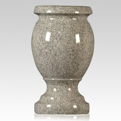 Cemetery Gray Granite Stone Vase