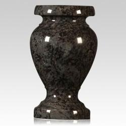 Cemetery Bahama Blue Granite Stone Vase
