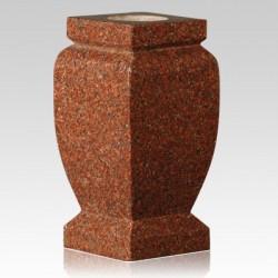 Cemetery India Red Granite Stone Vase