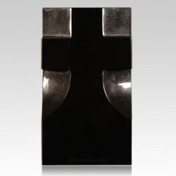 Cemetery Black Granite Stone Cross Vase