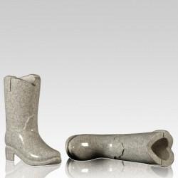 Cemetery Granite Cowboy Boot Vase
