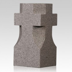 Cemetery Gray Granite Stone Cross Vase