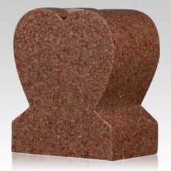 Cemetery India Red Granite Stone Heart Vase