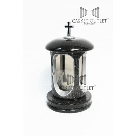 Cemetery Granite Stone Lantern, black stone lantern