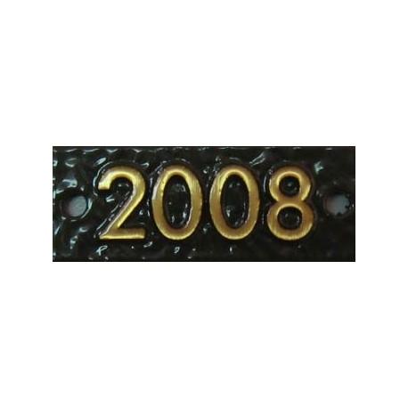 Bronze Marker Date Tab, Ribbon, Scroll