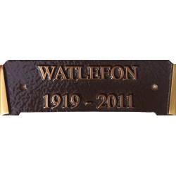 Bronze Grave Marker Matching Scroll