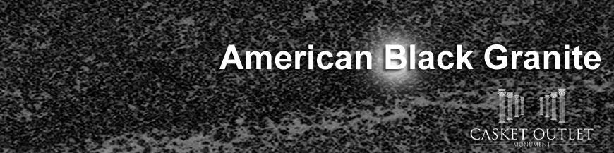 AMERICAN BLACK COLOR GRANITE MONUMENTS