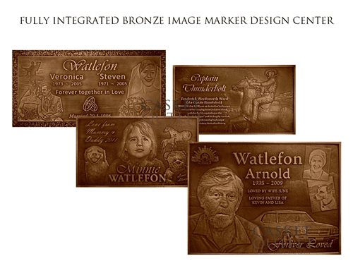 Image Bronze Grave Markers