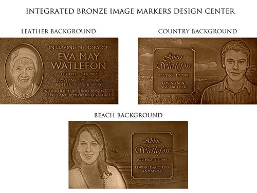 Single Image Bronze Grave Markers