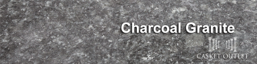 charcoal granite monuments