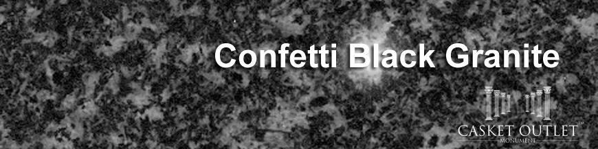CONFETTI BLACK COLOR GRANITE MONUMENTS