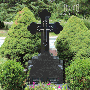Cross shaped monument, cemetery headstone
