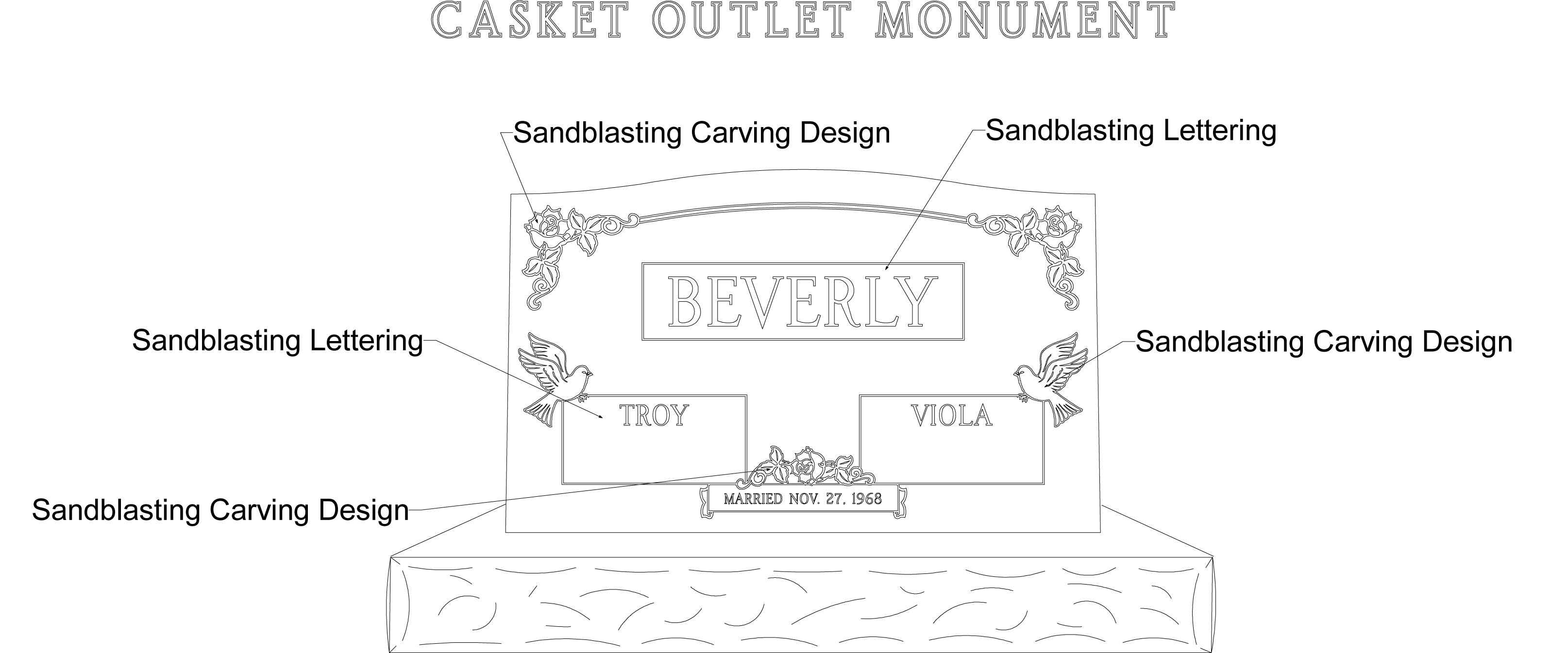 monument, headstone, upright monument, upright headstone design