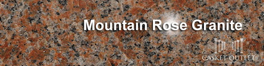 mountain rose pink granite monuments