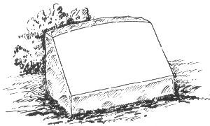slant marker, slanted marker, hickey monument, slant grave marker